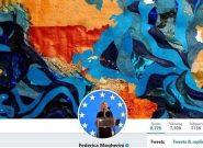 نقشه خاورمیانه جدید در هِدِر توئیتر  بالاترین مقام سیاست خارجی اتحادیه اروپا