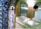 غبارروبی مضجع مطهر امام رضا(ع) با حضور امام خامنهای