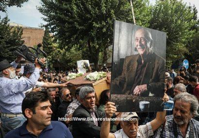 مراسم تشییع پیکر زنده یاد داریوش اسدزاده