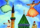 نقاشی پشت شیشه به رنگ مولانا