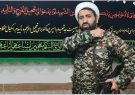 حضور امام جمعه اسالم با پوشش نظامی و سلاح به دوش در نماز جمعه