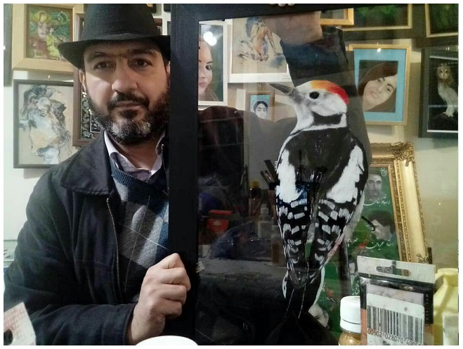 نقاشی های پشت شیشه رضاخان در نگارخانه ملی سعدآباد