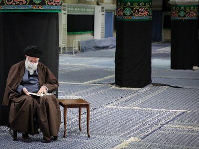 مراسم عزاداری و قرائت زیارت اربعین با حضور امام خامنه ای + عکس
