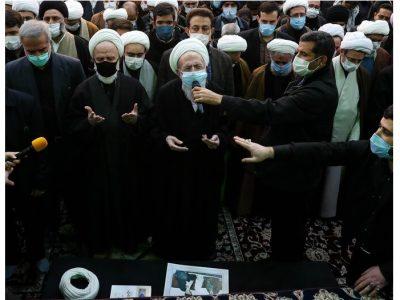 مراسم تشییع پیکر آیت الله مصباح یزدی در حرم عبدالعظیم (ع)