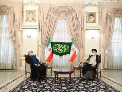 دکتر حسن روحانی به دیدار آیت الله رئیسی رفت