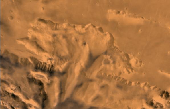 دیده شدن چهره ای مرموز در سطح سیاره سرخ