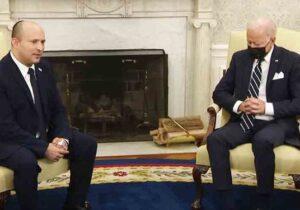 چرت بایدن حین دیدار با نخستوزیر اسرائیل