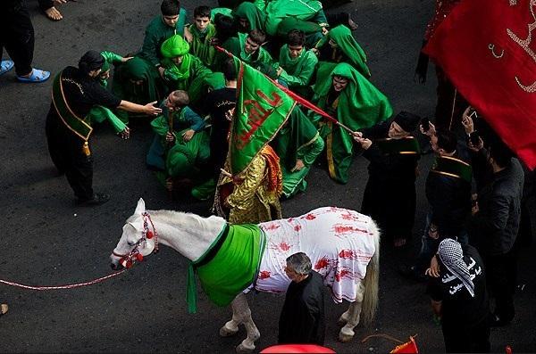 (تصاویر) کاروان نمادین اسرای کربلا