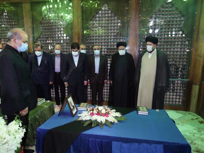 (تصاویر) تجدید میثاق رئیسی و اعضای دولت با آرمانهای امام